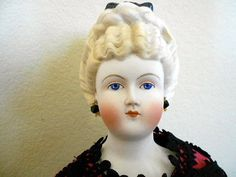 Fancy Hair Parian Bisque Doll by Emma Clear | eBay