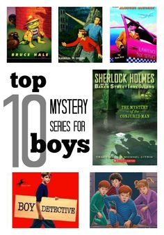10 Best Mystery Series for Boys These top mystery series for boys feature males cracking the case! | what do you think? would your boys dig these mysteries? @scholastic