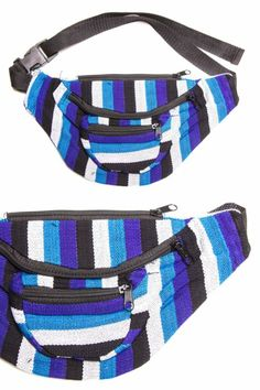 blue-striped-2-woven-fanny-pack