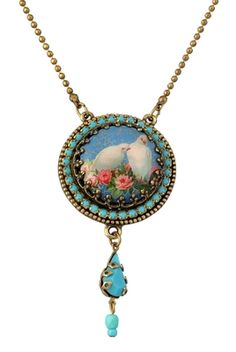 Michal Negrin 2010 Circle Shape with A Drop Necklace