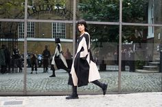 Some looks from the streets as fashion month moves on to its next phase.