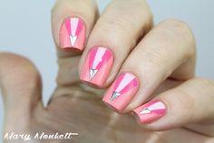 Pink Triangle Studs Nails: http://www.marymonkett.com/triple-rose-essie/