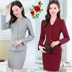 ef705a356058 Hot Sale Factory Wholesale Oem Design Chantilly Front Office Uniforms  lady…