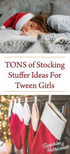TONS of Stocking Stuffer Ideas For Tween Girls. #Tweens #TweenGirls #Teens #TweenDaughter #Adolescent #PreteenGirl #Parenting #Kids #Christmas #StockingStuffers #Stockings #TweenGirlGiftIdeas #TweenGirlGifts #TweenGirlStockingStuffers #GirlStockingStuffers #Holidays #Gifts