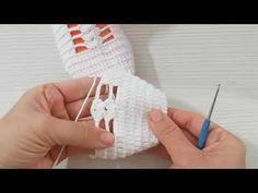 tığ işi çeyizlik gelin patiği yapımı/tığ işi patik modelleri/пинетки,knitting,booties - YouTube