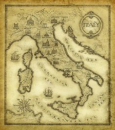 https://flic.kr/p/6YrWHM | Map of Italy | ink on paper & processing 14x12,5 cm 2009