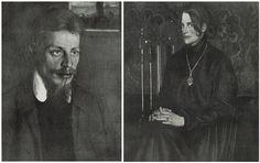 Oskar Zwintscher, Portraits vom Dichter Rainer Maria Rilke und seiner Ehefrau Clara Rilke-Westhoff.©George.
