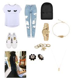"""""""Untitled #17"""" by tessagreen01 on Polyvore featuring Chicnova Fashion, Topshop, adidas Originals, Rains, Kate Spade, Gucci and Wanderlust + Co"""