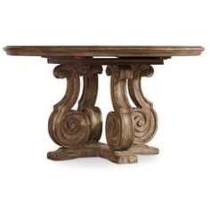 Hooker Furniture Solana Round Single Pedestal Dining Table with Scroll Serpentine Shaping - Godby Home Furnishings - Dining Room Table Noblesville, Carmel, Avon, Indianapolis, Indiana Round Pedestal Dining Table, Wood Pedestal, Solid Wood Dining Table, Extendable Dining Table, Dining Room Table, Dining Chairs, Kitchen Tables, Round Tables, Wood Table