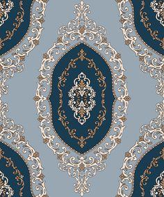Indian ornaments and design elements vector Islamic Art Pattern, Arabic Pattern, Persian Pattern, Textile Prints, Textile Patterns, Damask Patterns, Wallpapers Texture, Pattern Drawing, Pattern Art