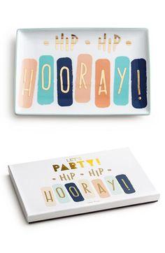 Rosanna Rosanna 'Hip Hip Hooray' Porcelain Tray available at #Nordstrom