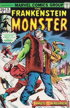 THE FRANKENSTEIN MONSTER 16, BRONZE AGE MARVEL COMICS __ CIII __