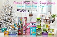 Church and Dwight Festive Family Giveaway Open to Canada Only* Ends 11/29 Trusted brands that you know and love like Arm & Hammer & Vitafusion. $100 value!
