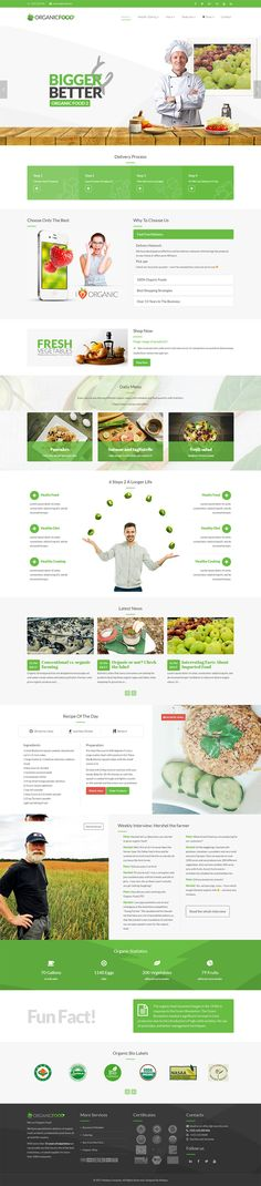 Organic Food is a clean, modern, functional and easy-to-use responsive parallax WordPress theme that has been purposely built for the organic food, organic shop and organic farm industry. Benefits Of Organic Food, Farm Business, Organic Lifestyle, Organic Farming, Up And Running, Premium Wordpress Themes, Organic Recipes, Web Design, Design Ideas