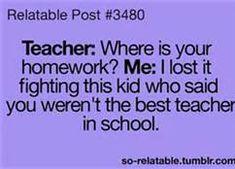 I don't know if I'll ever hear this one from a student, but it's still funny.