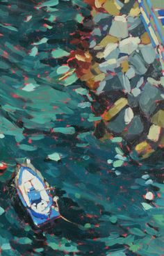 Italy Sorrento Fishing Boat Rocks Oil Painting Giclee Fine Art Print x 7 x 9 white border) Autumn Inspiration, Painting Inspiration, Lego Boat, Sailboat Painting, Boat Art, Nautical Art, Fishing Boats, Sorrento, Watercolor Paper