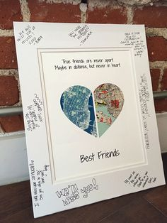True Friends Are Never Apart... Going Away Present for Friends - Gift For Best Friends-  Long Distance Friendship Gift- Moving Away Gift