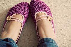 Mary Jane Slippers By Lisa Gutierrez - Free Crochet Pattern - (ravelry)