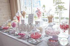 Pink Wedding Candy Buffet