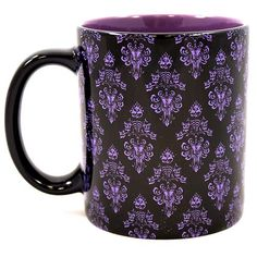 Your WDW Store - Disney Coffee Cup Mug - Haunted Mansion Wallpaper - Hurry Back