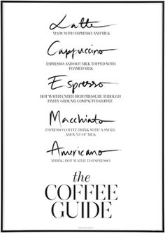 The Coffee Guide Print