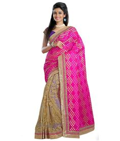 Loved it: Triveni Amazing Dual Color Color Embroidered Net Brasso Saree, http://www.snapdeal.com/product/triveni-amazing-dual-color-color/804674188