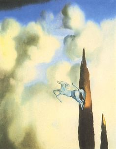 Morning Ossification of the Cypress via Salvador Dali, 66x82 cm, oil on canvas