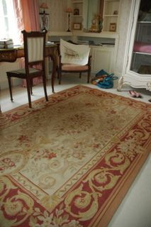 Red & Gold Aubusson #Rug