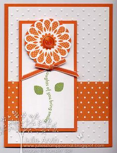 Polka Dot Pieces (Pumpkin Pie) by Julie Bug - Cards and Paper Crafts at Splitcoaststampers