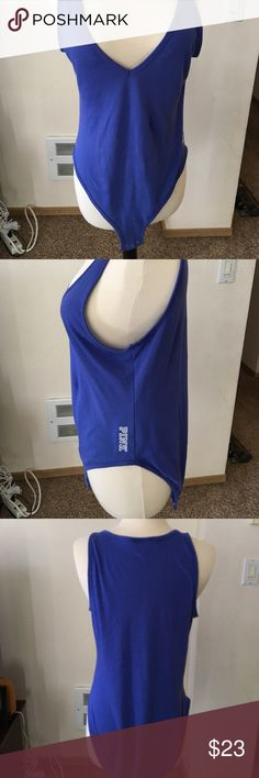 Bodysuit Periwinkle bodysuit , I say periwinkle because it's not really purple or blue . Worn a couple of times. No stains or rips . Smoke free home . PINK Victoria's Secret Tops