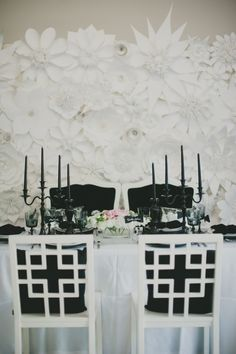 Wedding table  #Black & White wedding receptions ... Wedding ideas for brides, grooms, parents & planners ... https://itunes.apple.com/us/app/the-gold-wedding-planner/id498112599?ls=1=8 … plus how to organise an entire wedding, without overspending ♥ The Gold Wedding Planner iPhone App ♥