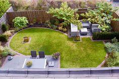 Garden design-natural-and-tight-Apeldoorn-by-Hovenier-BK-Tuinen.jpg 800 533 p Hagedesign-naturlig-og-tett-Apeldoorn-by-Hovenier-BK-Tuinen.jpg 800 533 s Rectangle Garden Design, Back Garden Design, Garden Design Plans, Japanese Garden Design, Backyard Garden Design, Diy Garden, Backyard Layout, Backyard Plan, Patio Design