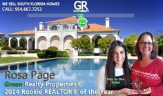 Congratulations to Rosa Page, Green Realty Properties 2014 Rookie REALTOR® of the Year! Rosa is a passionate person who truly cares about oing what's right. Rosa's priority is providing excellent customer service to her clients. Her commitment shows in all that she does and has brought her much success during the 1st year of what we hope to be a long Real Estate Career. We are proud of Rosa and feel privileged to have her on our team. www.welovesouthflorida.com/agents/