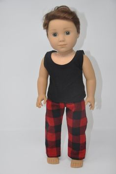 """Debs RED Polo Shirt Cargo Pants Clothes For 18/"""" American Girl Boy Logan Doll"""
