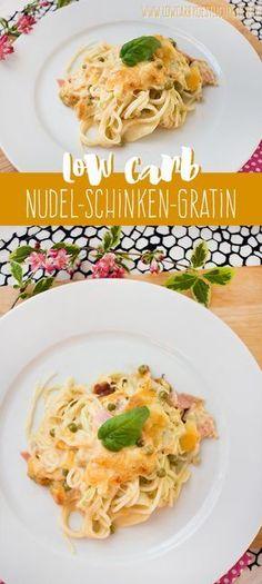 Low Carb Nudel-Schinken-Gratin mit Kohlrabinudeln www.lowcarbkoestlichkeiten.de