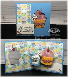 Pop-up Cupcake Window Card by KarenBurniston - at Splitcoaststampers