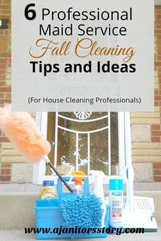 It's time to prepare our house cleaning businesses for autumn with these 6 fall cleaning ideas and tips for professional residential cleaning services. Residential Cleaning Services, Commercial Cleaning Services, House Cleaning Services, House Cleaning Tips, Diy Cleaning Products, Apartment Cleaning, Cleaning Checklist, Cleaning Hacks, Fall Checklist