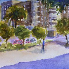 Pintar acuarelas: Plaza del zoco