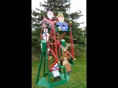 Christmas Motorized Designs Woodcraft Patterns - Christmas Ferris Wheel and Riders Plan Set Diy Christmas Lights, Christmas Yard Decorations, 4th Of July Decorations, Christmas Art, Outdoor Decorations, Holiday Ornaments, Halloween Circus, Halloween 2016, Woodworking Yard Art