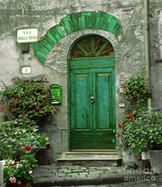 Green Door, #Tuscany, Italy