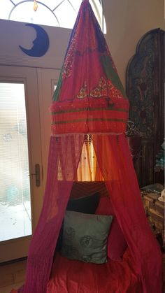 bohemian canopy for bed or chairreading nook meditation tent glamping dorm - Maroon Canopy Design