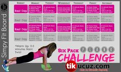 Simply Fit Board - Six Pack Plank Challenge Sims Challenge, Plank Challenge, Workout Challenge, Fit Board Workouts, Fun Workouts, Workout Board, Simple Fit Board, Trx, Pilates Quotes