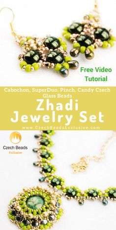Try to follow our Zhadi Jewelry Set video tutorial! | SAVE it!| www.CzechBeadsExclusive.com #czechbeadsexcluisve #czechbeads