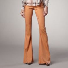 Theyskens' Theory Stretch Flared Jeans Pantana Fussah Style In Peach Denim. Low Rise, Fitted Through Hip And Thigh, And Flared From Knee Theyskens' Theory Jeans Flare & Wide Leg