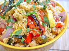 roasted vegetable couscous: roasted too long. Veggies were a bit mushy. Otherwise, this tasted good. Made a lot!