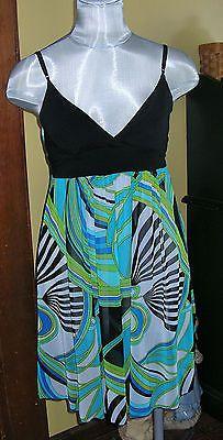 First Kiss Party Dress Spaghetti Straps Geometric Pattern Size Small | eBay