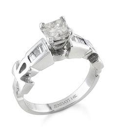 Popular Ankh Princess Diamond Ring k White Gold with Center Diamond Egyptian Symbol Ankh