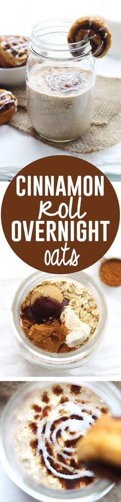 Cinnamon Roll Overnight Oats - A great fall dessert
