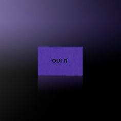 Dennis Adelmann - Business Card for our Studio OUI R #hotfoilstamping #hotfoil #branding #businesscards #oui_r #colorplan