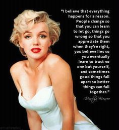Love this marilyn monroe quote